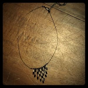 Jewelry - Icing Black Bling Wire 15 inch Necklace